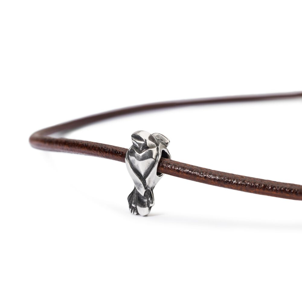 Lovebirds Brown Leather Necklace