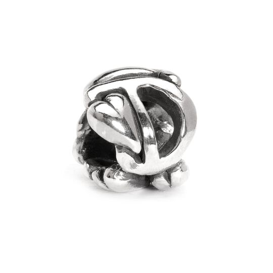 Letter Bead D, Silver