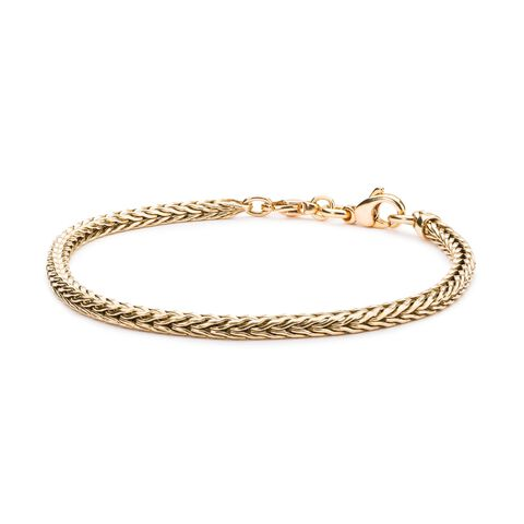 14k Gold Bracelet with Double Clasp Lock