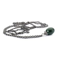 This is an image of the product Collier en argent avec malachite