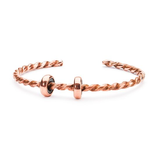 Twisted Copper Bangle with 2 x Copper Spacers