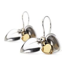 Secret Heart Earrings with Silver Earring Hooks