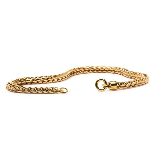 Gold 14 k Bracelet with Plain Lock
