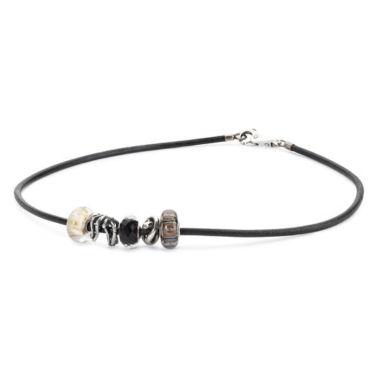 Leather Necklace Black