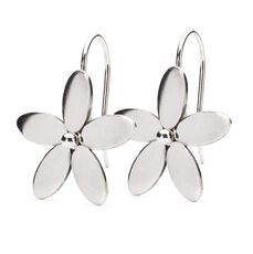 Wood Anemone Earrings with Silver Earring Hooks