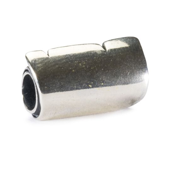 Big Scroll Bead, Silver, No Engraving
