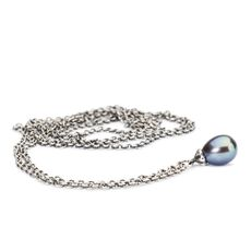 This is an image of the product Collana Fantasia con Perla Pavone