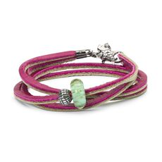 This is an image of the product Bracciale in Cuoio Meraviglie Esotiche