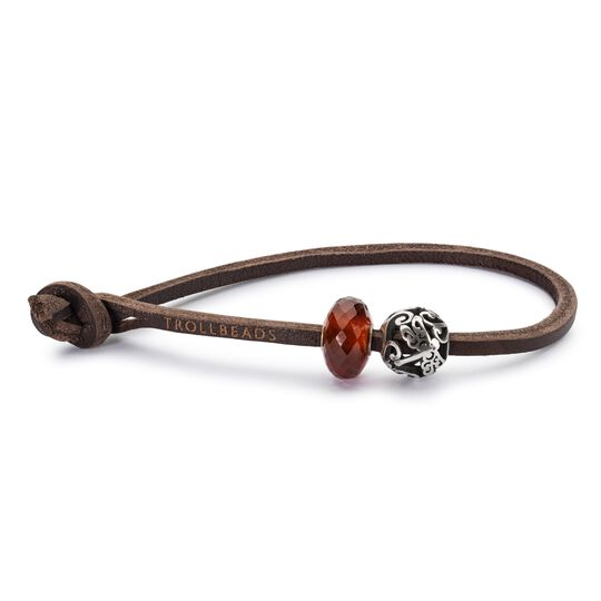 Single Leather Bracelet, Brown