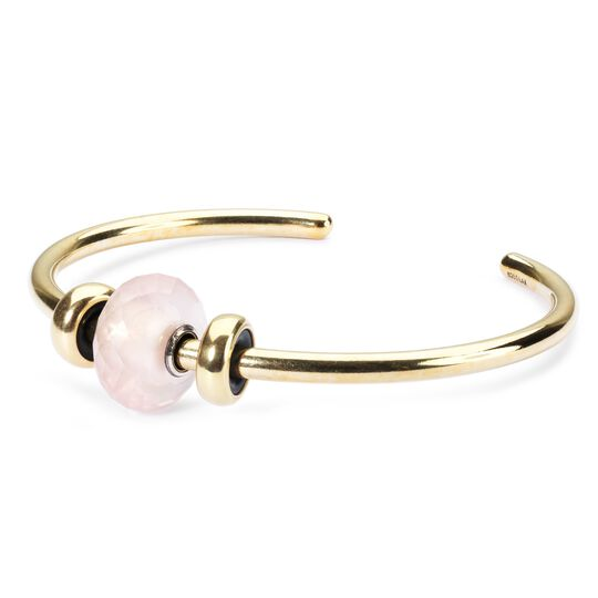 Gold Bangle with Rose Quartz