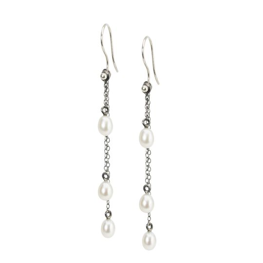 products pearl and swarovski crystal freshwater garnet pearls earrings january silver