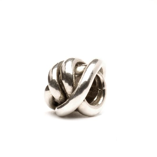 Lucky Knot Bead, Silver