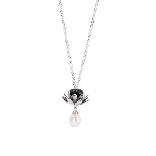 Fantasy Necklace With White Pearl, 90 cm / 35.4 in