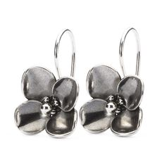 This is an image of the product Hanging Hydrangea Earrings with Silver Earring Hooks