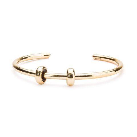 Gold Plated Bangle with 2 Gold Spacers