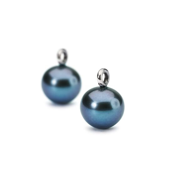 Peacock Pearl Round Drops with Silver Hooks
