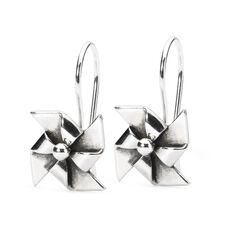 Origami Mill Earrings with Silver Earring Hooks