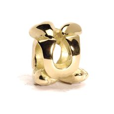 This is an image of the product Letter Bead, U, Gold