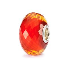 This is an image of the product Saffron Facet Bead