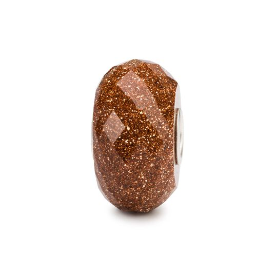 Faceted Goldstone Bead