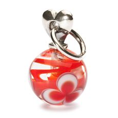This is an image of the product Red Valentine Love Bead