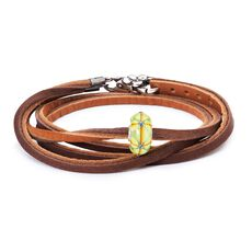 Summer Bushes Leather Bracelet, Light/Dark Brown