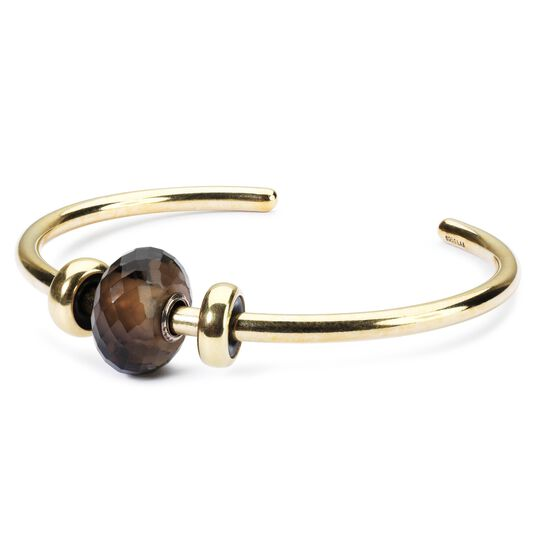 Gold Bangle with Smoky Quartz