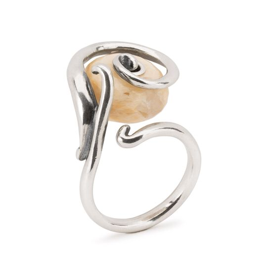 Swirling Feldspar Quartz Ring