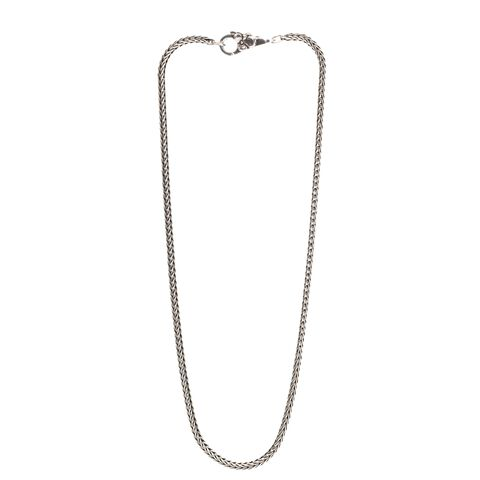 Sterling Silver Necklace with Flower Lock