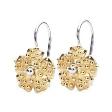 This is an image of the product Morning Dew Gold Earrings with Silver Earring Hooks