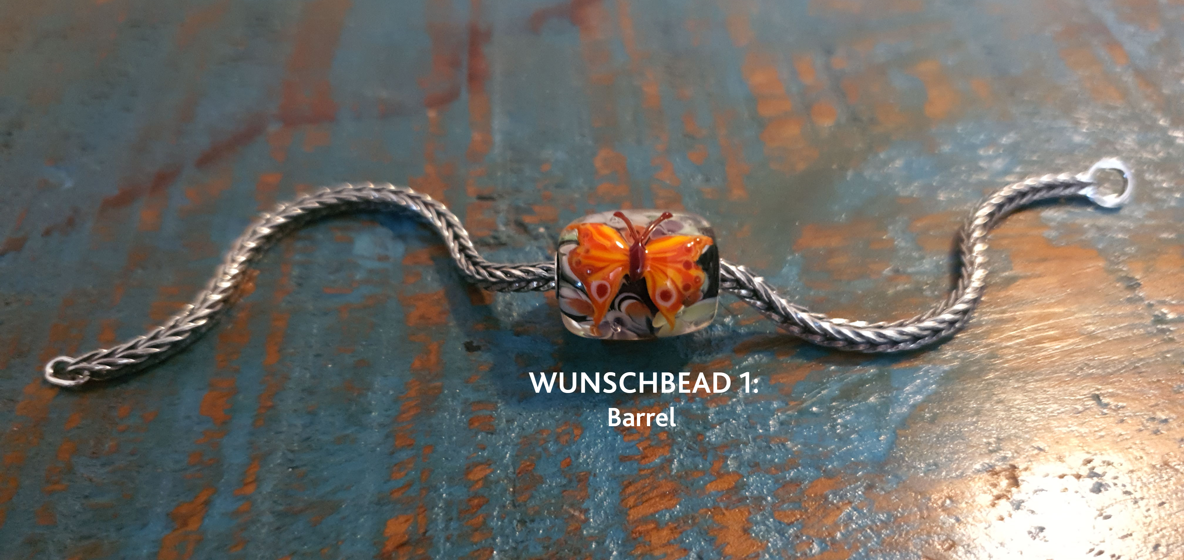 Trollbeads Schmetterlings Barrel