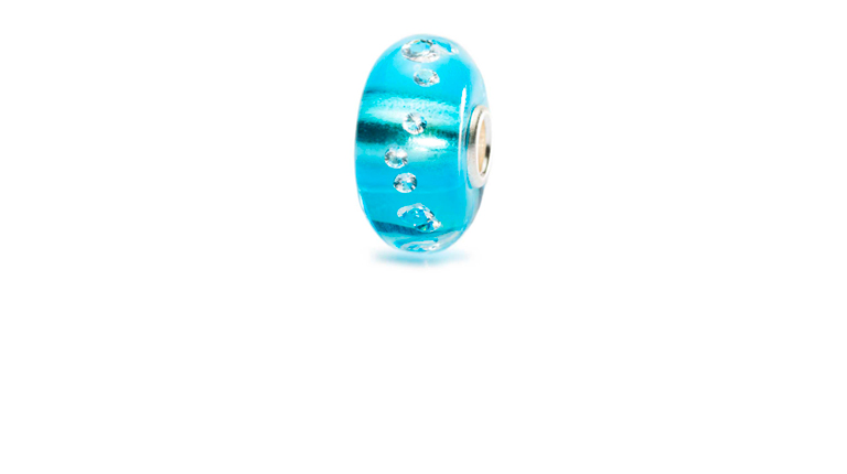 The Diamond Bead Iceblue Trollbeads Glass bead