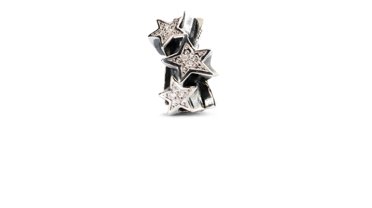 Shooting Stars is a beautiful combination of Sterling silver and Diamonds
