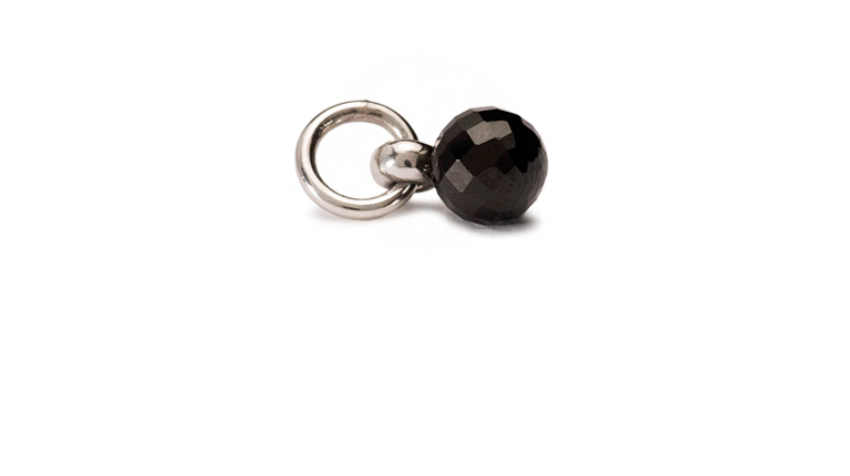 The Black Spinel Tassel in a combination of Black Onyx and Sterling silver.