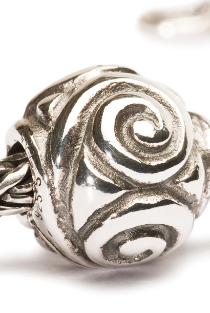 Joyful sterling silver jewellery bead