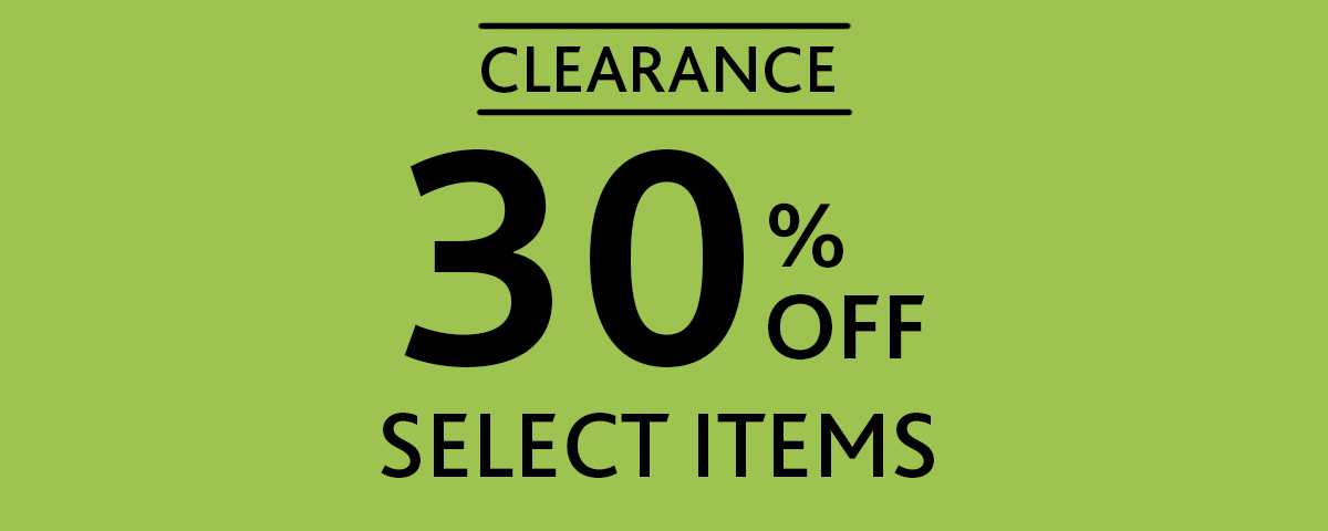 Clearance 30% Off