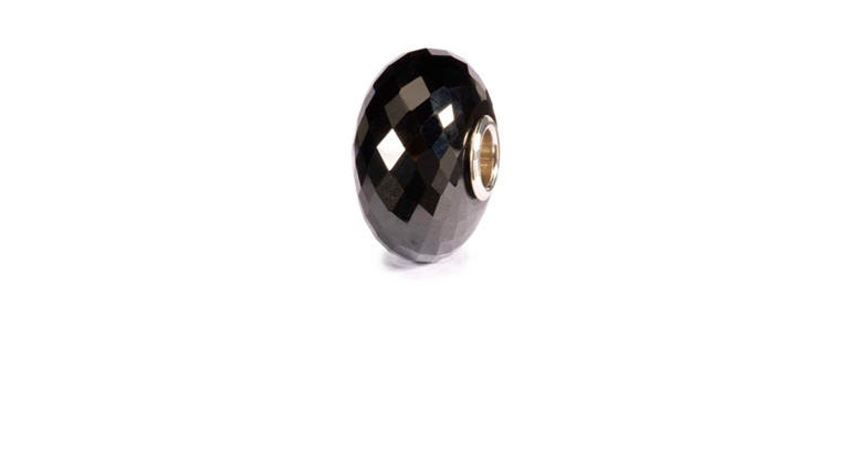 Faceted Black onyx Trollbeads Bead