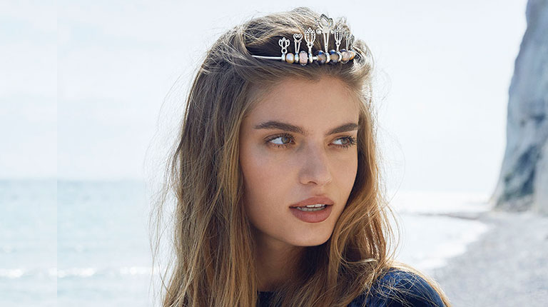 Image of woman wearing a tiara