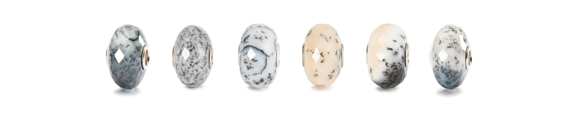 Agate Dendritic  jewellery beads showing the variety