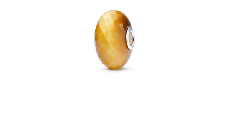 Trollbeads Cat's Eye Quartz gemstone bead