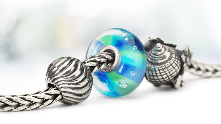 The Ripples and Hiding Conch Bead on a bracelet
