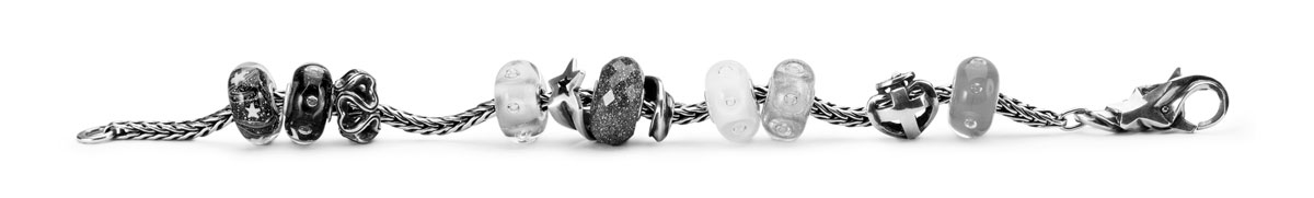 Straight bracelet displaying jewellery from the new Starlight collection.