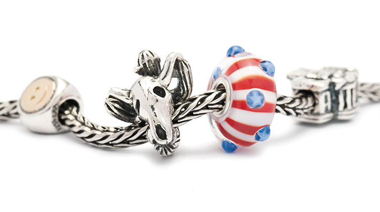 Image of beautiful American World Tour Trollbeads