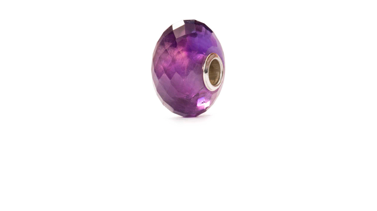 Beautiful faceted Amethyst Trollbeads bead