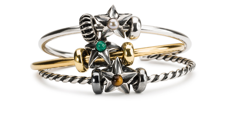 As the perfect gift idea this year, 12 new star beads with stones are entering the Trollbeads collection