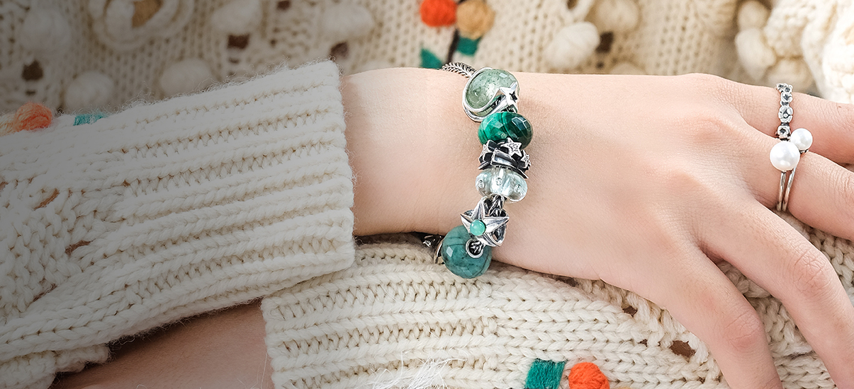 start your bead on bracelet with Trollbeads