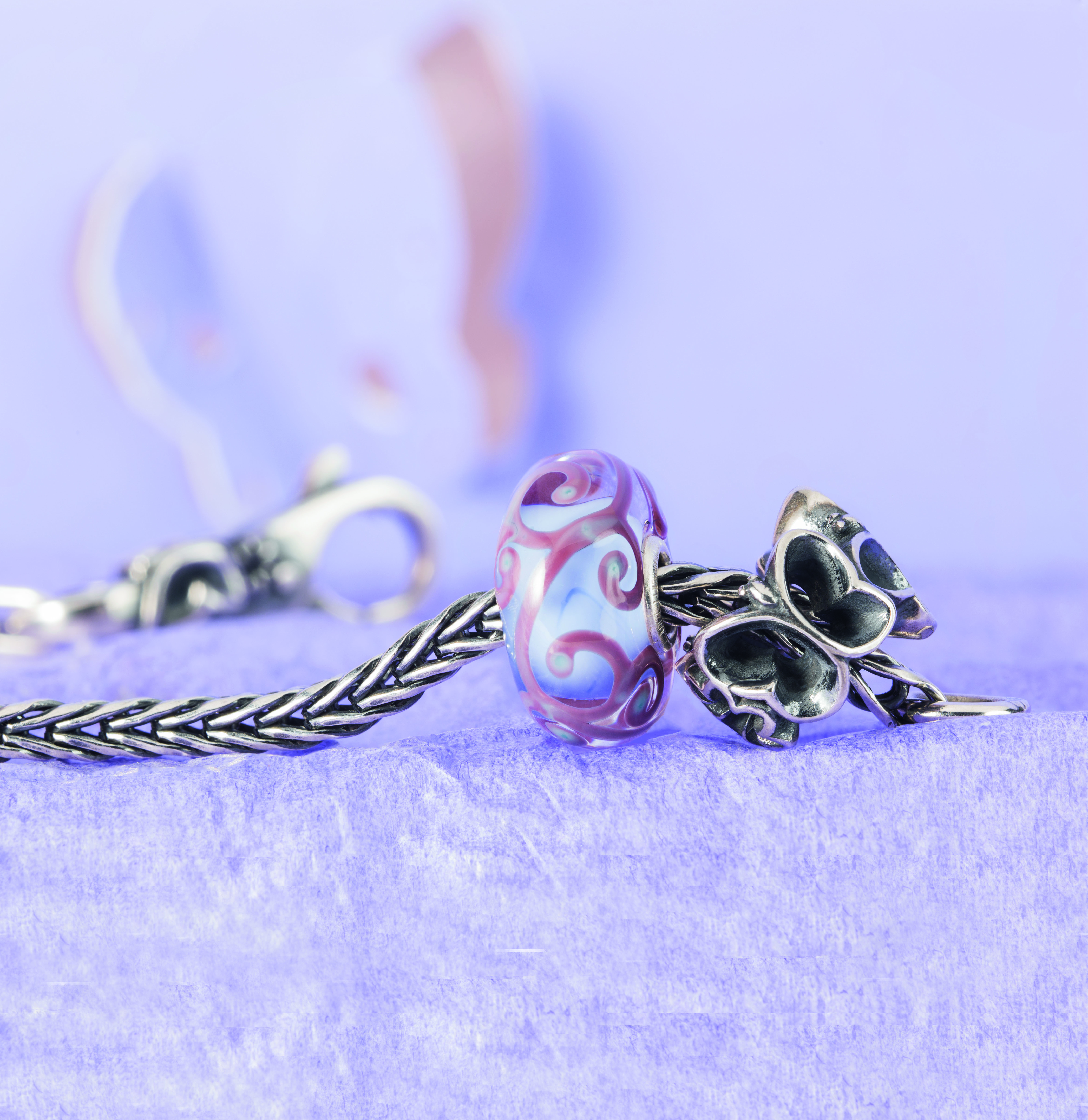 Combine the Flutter By bracelet with other beads from the Trollbeads Collection to create a personal and unique bracelet.