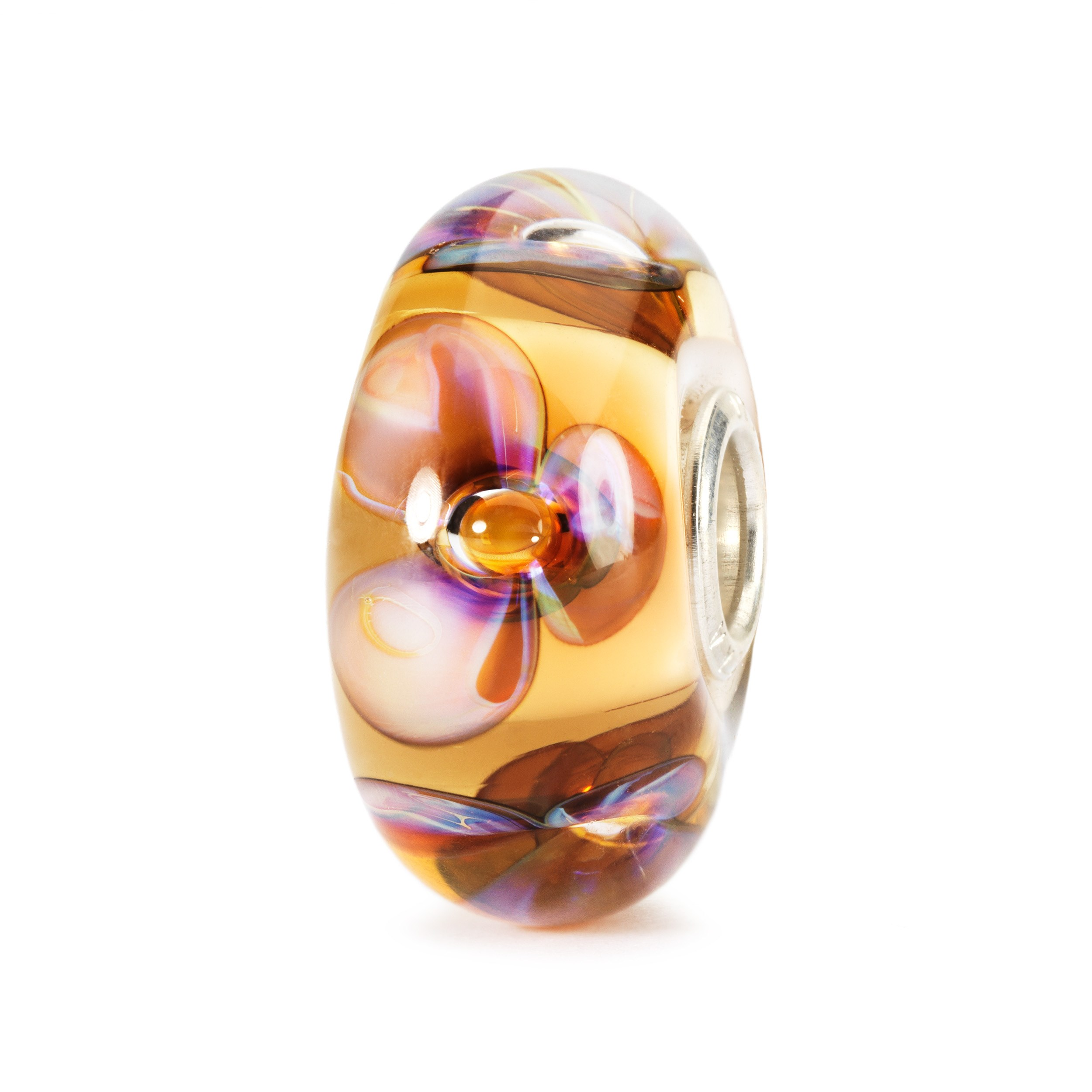 Amber Violets Bead