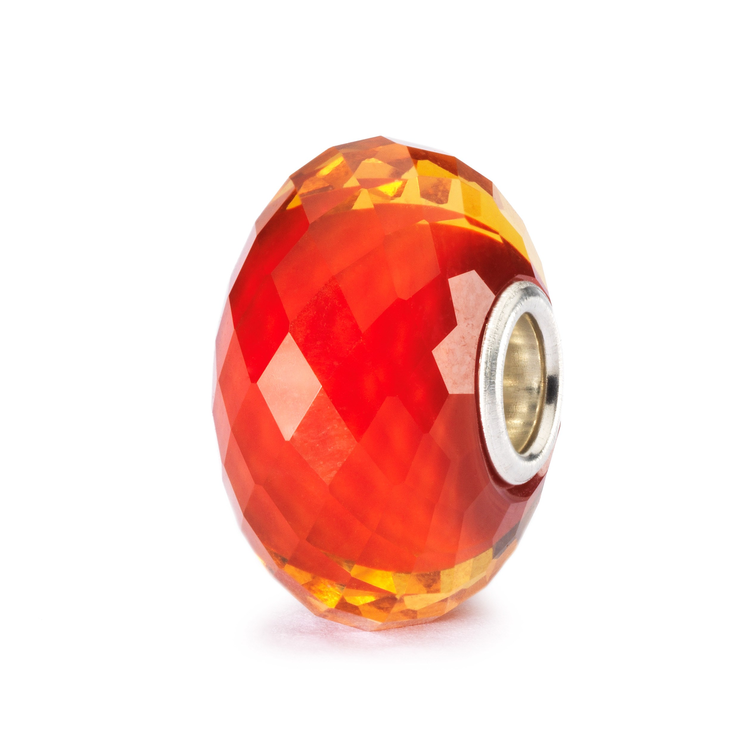 Saffron Facet Bead